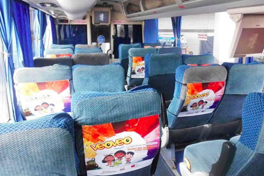 Publicidad en respaldares en buses interprovinciales