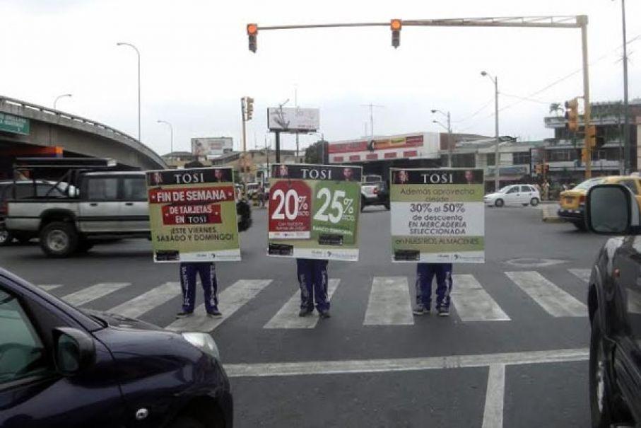 Publicidad en semáforos