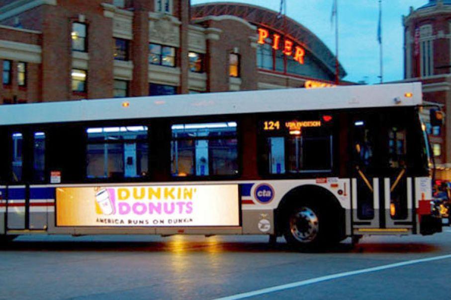 Pantallas Led publicitarias en buses urbanos